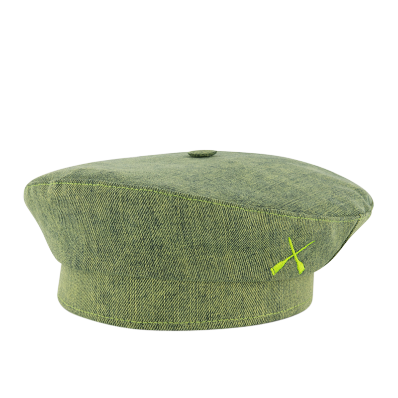 FRENCH BERET BC x DAILY PAPER SHARP GREEN OVERDYE