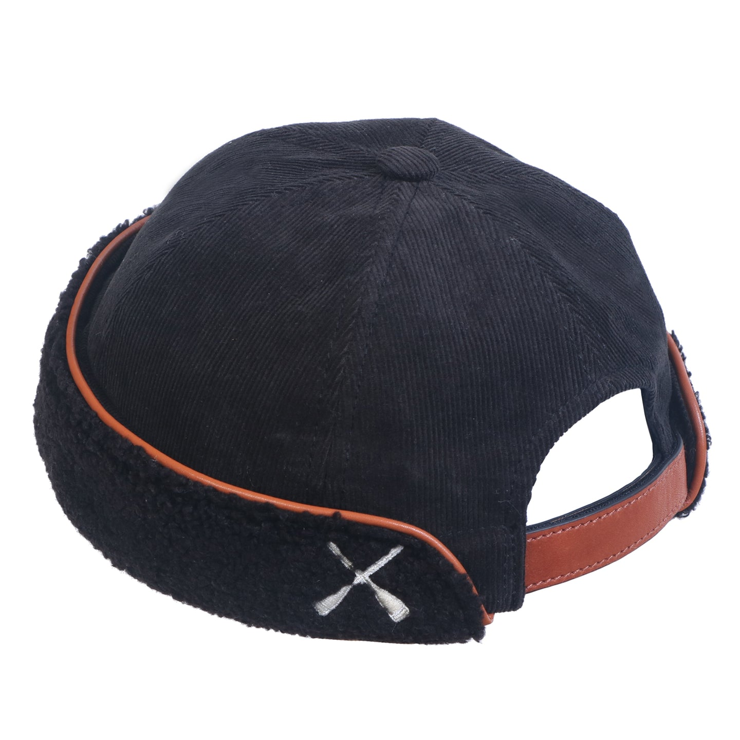 MIKI DOCKER BEANIE BLACK VELVET & FLEECE