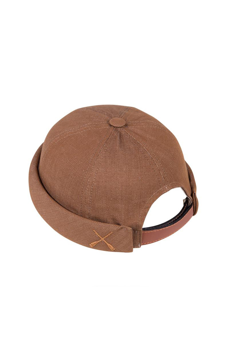 MIKI DOCKER BEANIE BROWN CAMEL DENIM