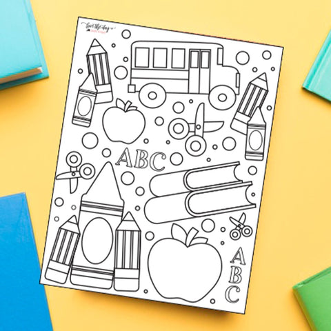 Back To School Coloring Sheet