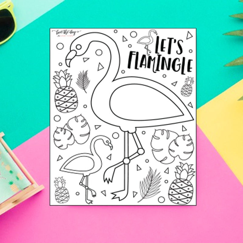 Flamingo Coloring Sheet