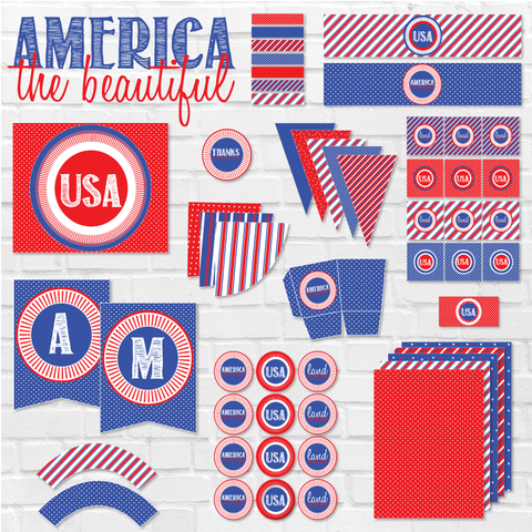America The Beautiful Printable Party