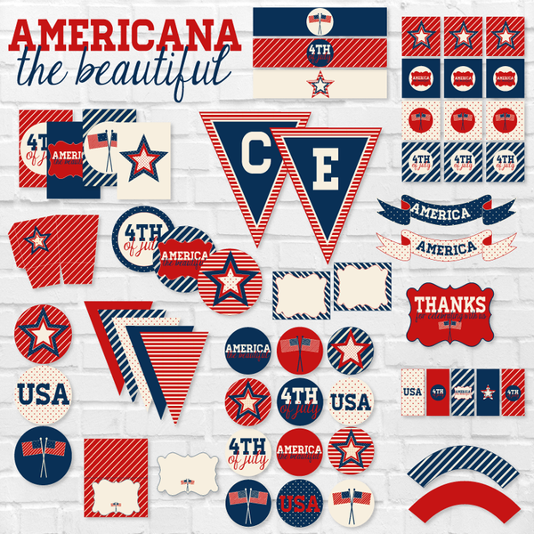 Americana The Beautiful: 4th of July Printable Party