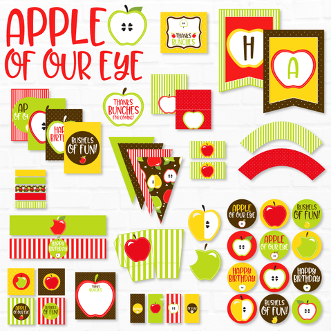 Apple of My Eye Birthday Printable Party