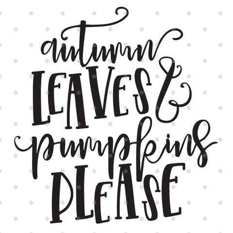 Autumn Leaves Fall SVG Cut File