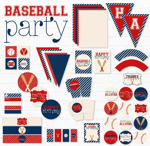 Baseball Birthday Printable Party
