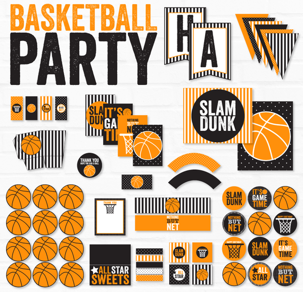 Basketball Birthday Printable Party