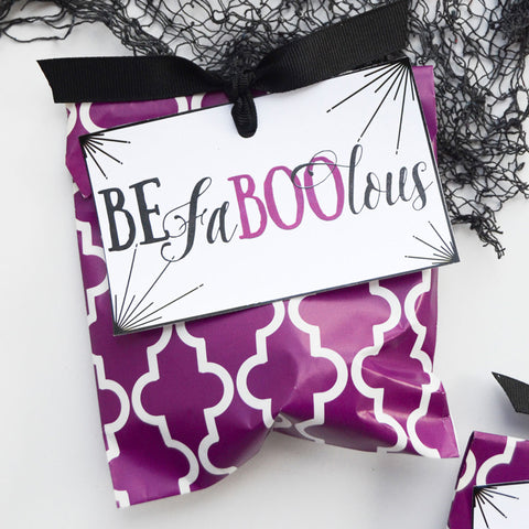 Be FaBOOlous Printable Halloween Gift Tags