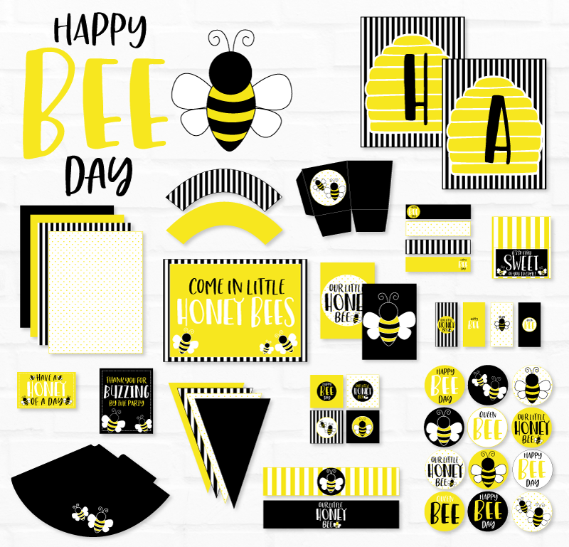 Bee Birthday Printable Party