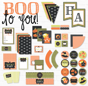 Boo To You Halloween Printable Party