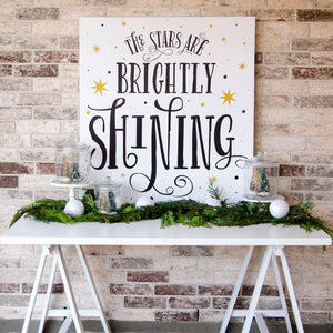 The Stars Are Shining Brightly Christmas Printable Poster
