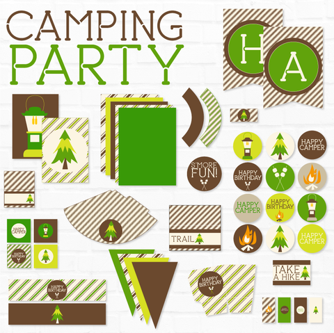 Camping Birthday Printable Party