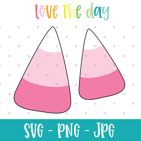 Pink Candy Corn SVG File