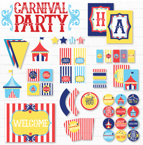 Carnival Party Printables - Birthday Collection