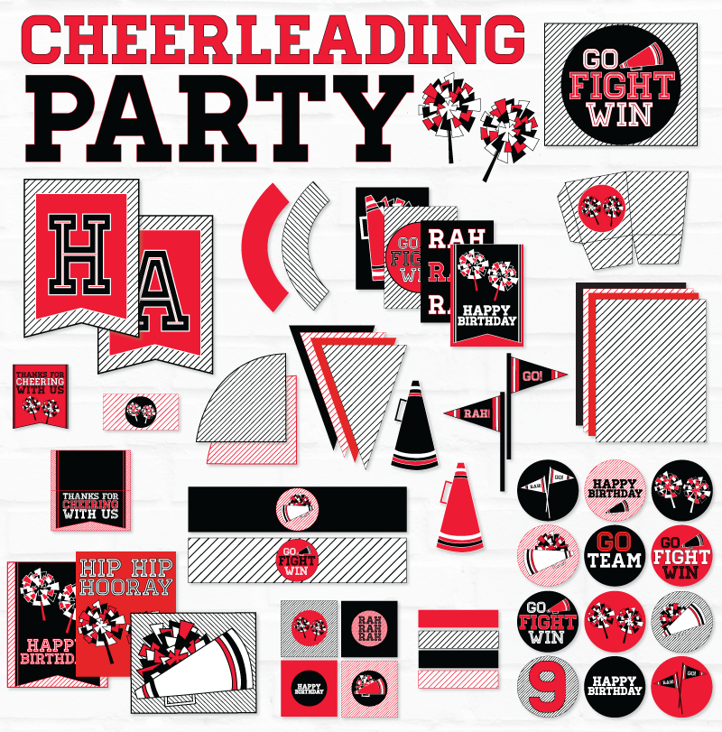 Cheer Printable Party - Birthday Collection