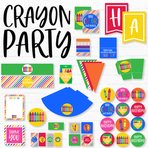 Crayon Party Printables