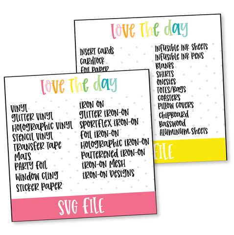 Cricut Supplies Storage SVG Labels