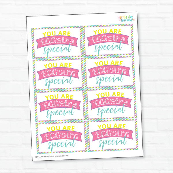 Eggstra Printable Tags