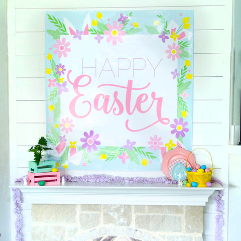 Happy Easter Backdrop Digital File