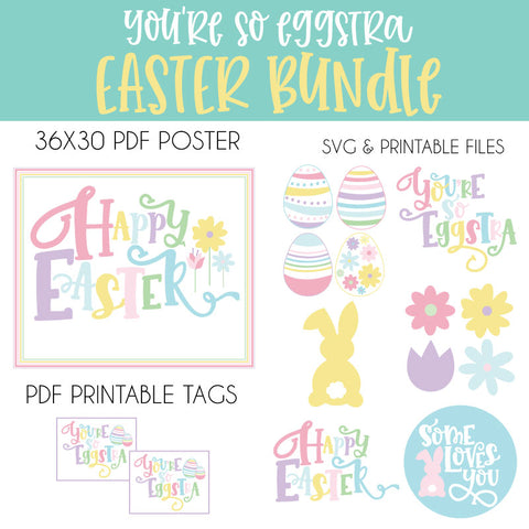 Digital Easter SVG & Printable Bundle