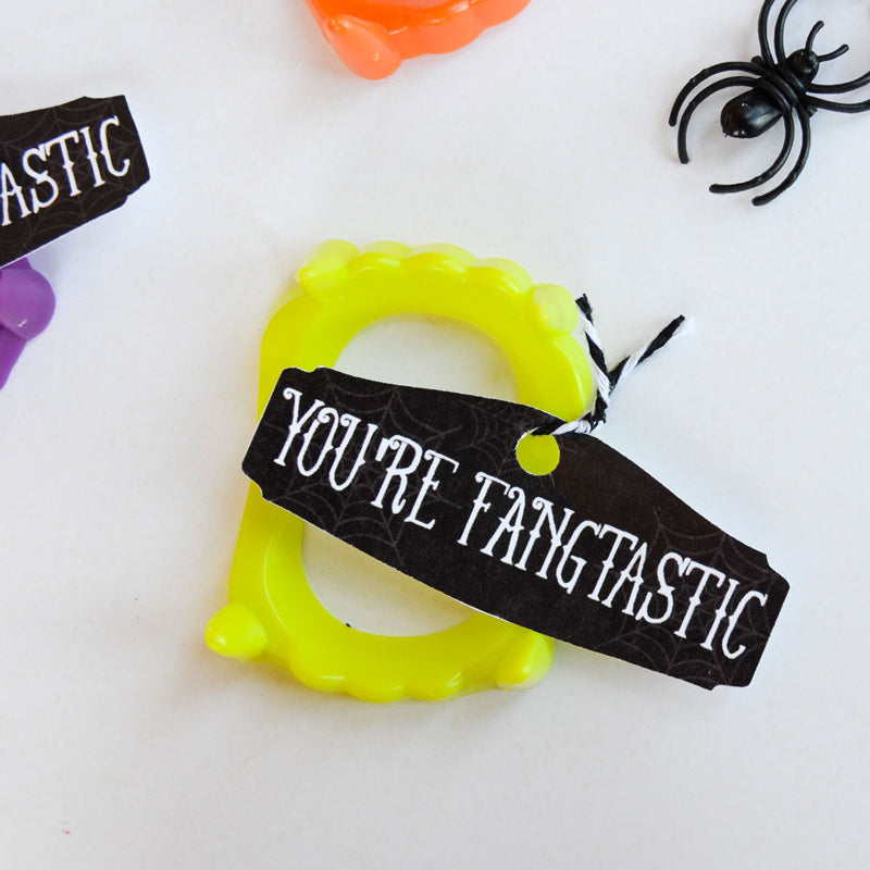Fangtastic Halloween Printable Tags
