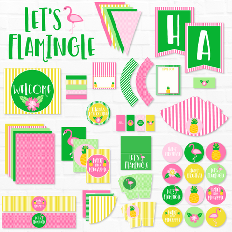 Flamingo Birthday Printable Party