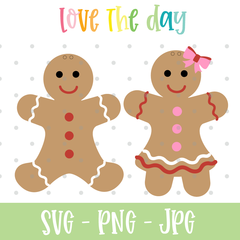 Gingerbread SVG Cut Files