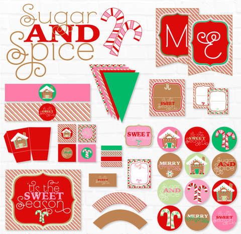Gingerbread Christmas Party Printables