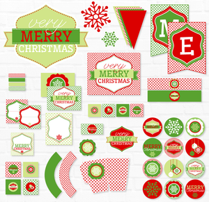 Gingham Christmas Party Printable