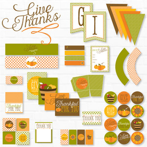 Thankful For You Thanksgiving Printable Party