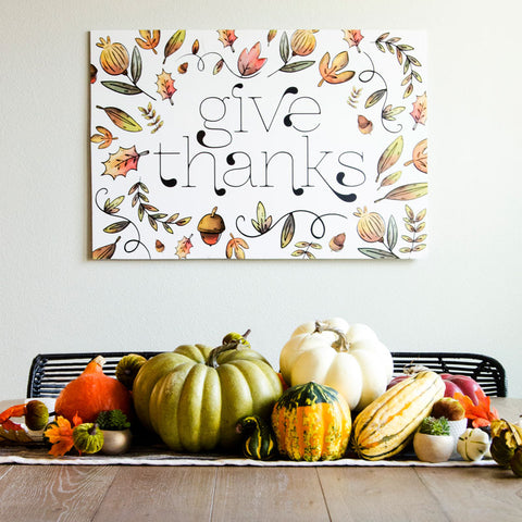 Give Thanks Thanksgiving Backdrop