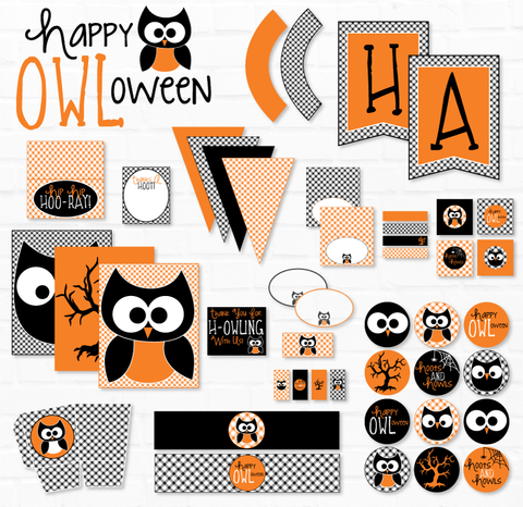 Happy OWL-oween Halloween Printable Party Collection
