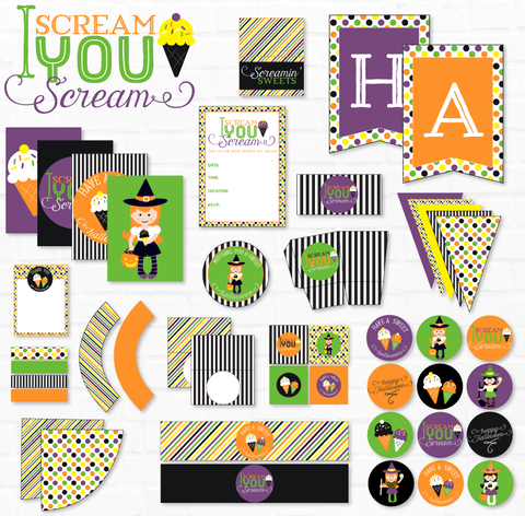 I Scream, You Scream Halloween Printable Party Collection