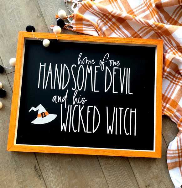 Devil & Witch Halloween SVG Cut File