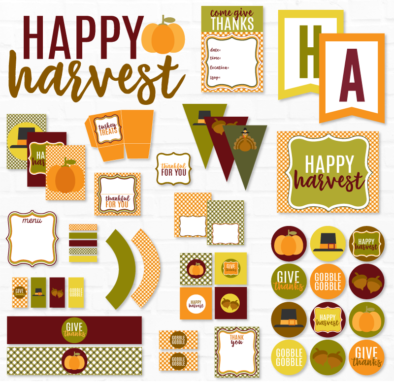 Happy Harvest Thanksgiving Party Printable