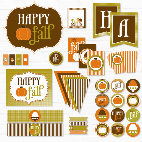 Happy Fall Printable Party