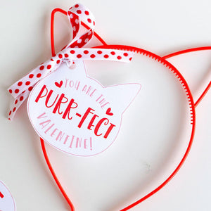 Kitty Valentine Printable Tag