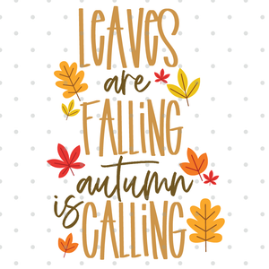 Leaves Are Falling Fall SVG CUT FILE!