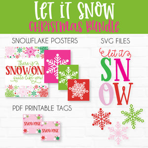 Let It Snow SVG Cut File and Printable Collection