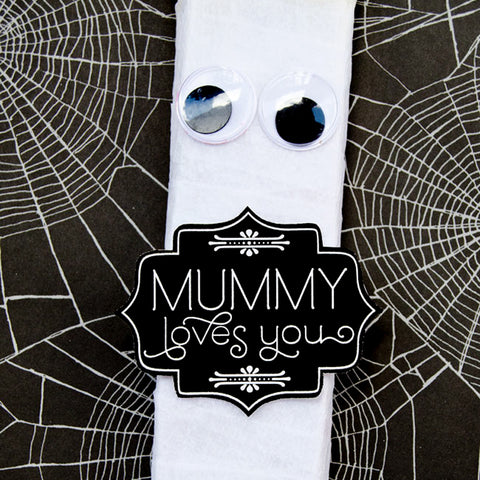 Mummy Loves You Halloween Printable Gift Tag