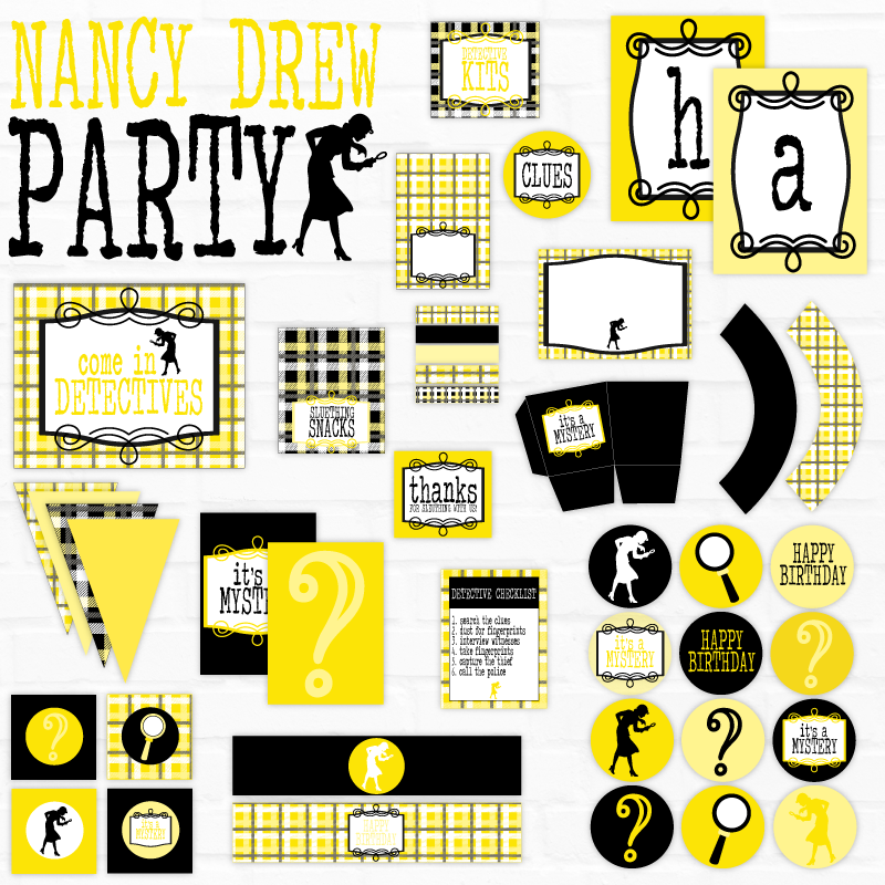 Nancy Drew Printable Party Collection