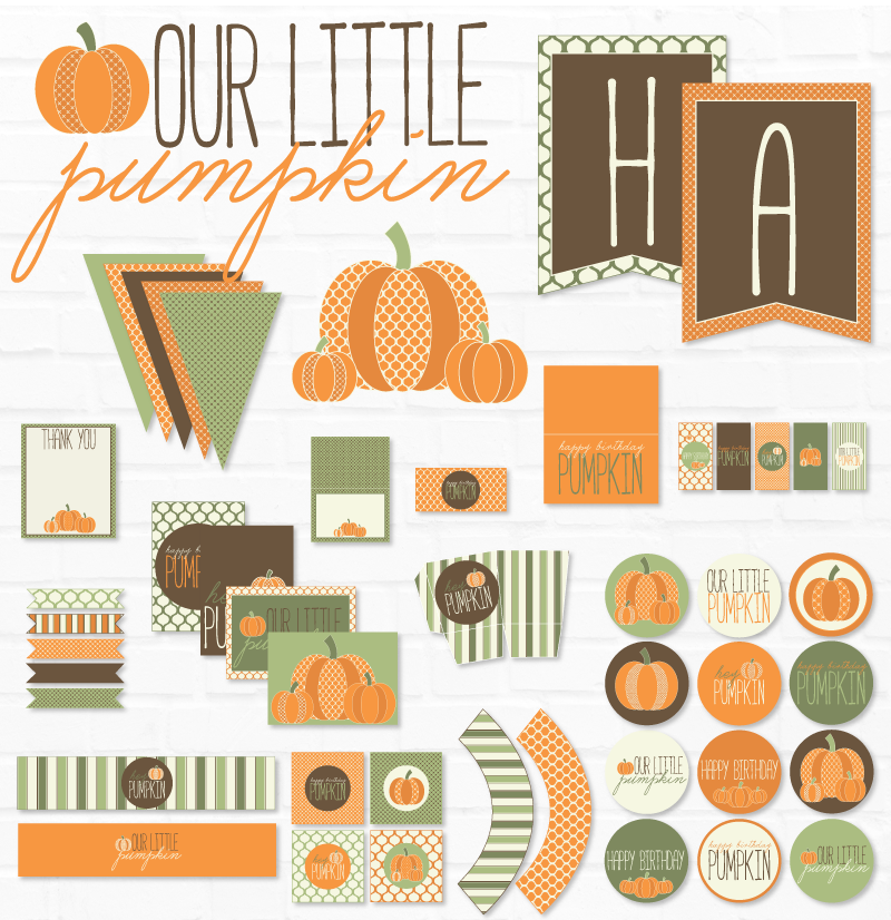 Our Little Pumpkin Birthday Printable Party
