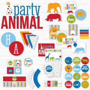 Party Animal Birthday Printable Party