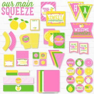 Main Squeeze: Printable Lemon Party