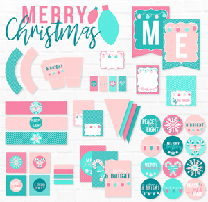 Merry & Bright Christmas Party Printables - Vintage
