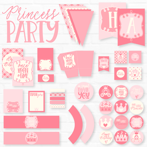 Princess Printable Party Collection by Love The Day