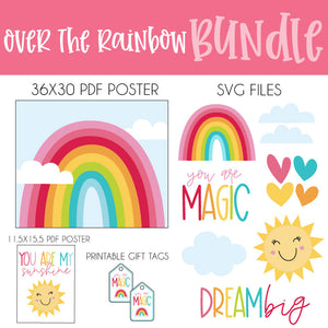 Digital Rainbow SVG & Printable BUNDLE