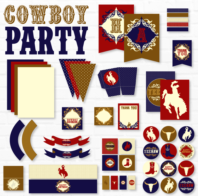 Cowboy Printable Party Collection