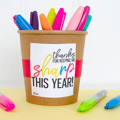 Sharpie Teacher Appreciation Gift Tag