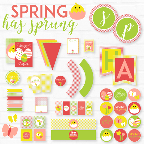Spring Has Sprung Easter Printable Pack